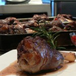 Lamb shank with redcurrants and rosemary