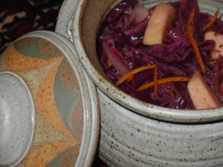 Braised, spiced, red cabbage