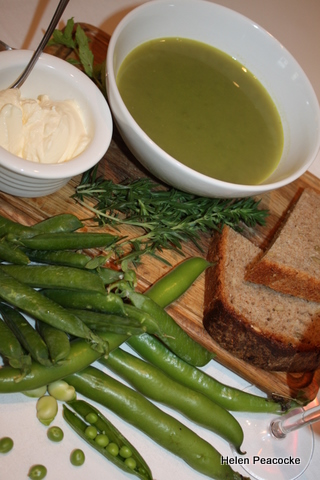 Pea, Broad Bean and Mint Soup