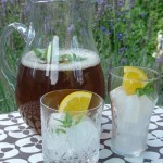 Moroccan style mint tea