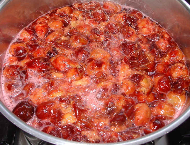 Cooking plums