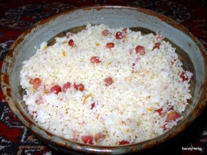 Orange and pomegranate couscous