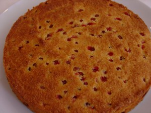 Redcurrant, orange and lavender cake - gluten free