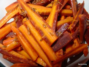 carrot, cumin and orange salad